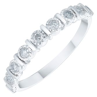 9ct White Gold 1/5ct Diamond Eternity Ring - Product number 3893642