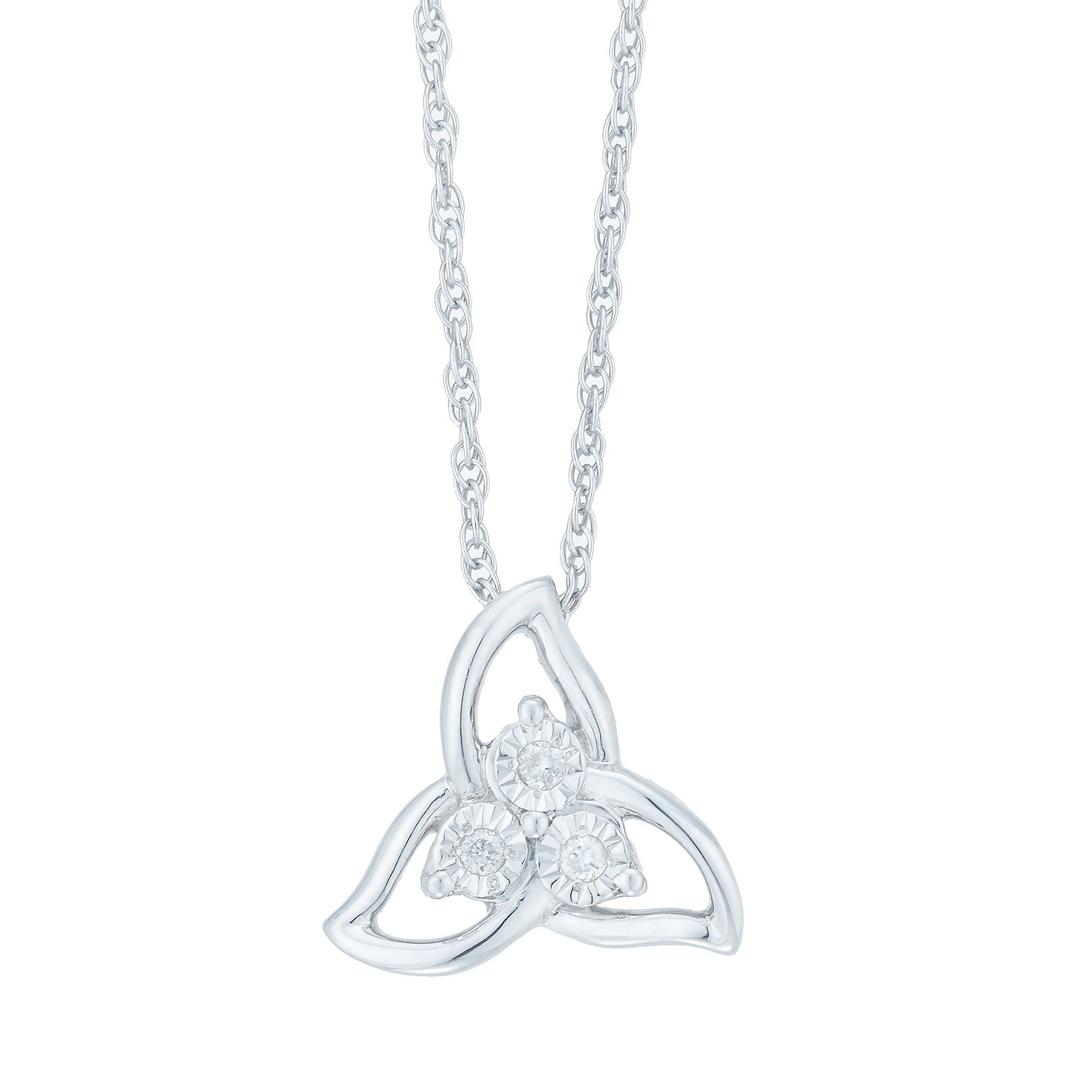 Sterling Silver Diamond Three Stone Pendant - Product number 3896900