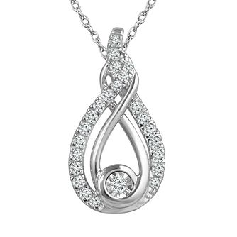 Interwoven Sterling Silver 0.15ct Diamond Pendant - Product number 3897435