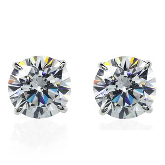 CARAT* LONDON 9ct White Gold Brilliant Stud Earrings - Product number 3905128