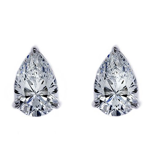 3ab67b7a5 CARAT* LONDON 9ct White Gold Pear Shaped Stud Earrings - Product number  3905144