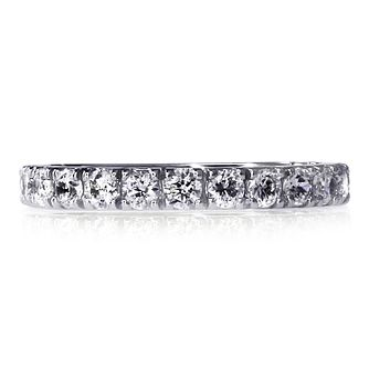 CARAT* LONDON 9ct White Gold Eternity Ring Size K - Product number 3905195