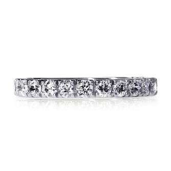 CARAT* LONDON 9ct White Gold Eternity Ring Size M - Product number 3905209