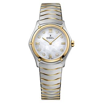 Ebel Sport Classic Ladies' Two Colour Mother of Pearl Watch - Product number 3908372