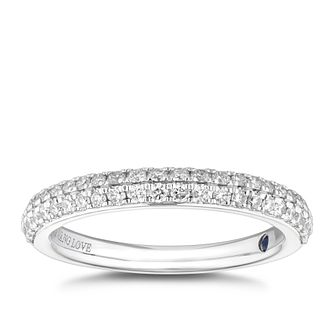 Vera Wang 18ct White Gold 0.37ct Diamond Wedding Ring - Product number 3909441