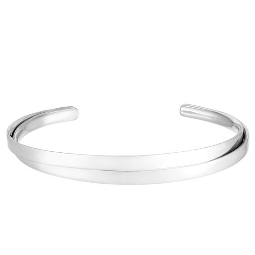 Silver Double Row Crossover Bangle - Product number 3912124