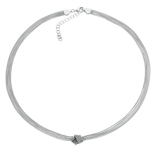 Silver Multi Strand Knot Necklace - Product number 3912337