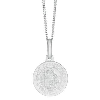 Silver 12mm St Christopher Kids Pendant - Product number 3913554