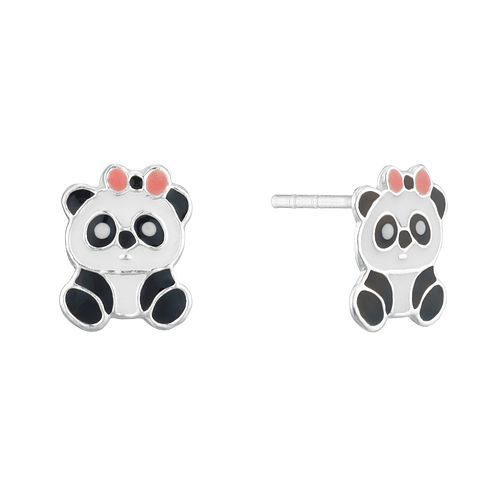 Sterling Silver Children's Panda Stud Earrings - Product number 3916022