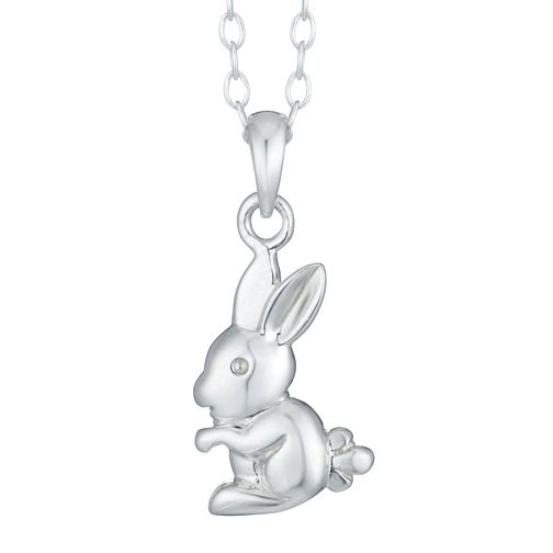 Sterling Silver Children's Rabbit Pendant - Product number 3916111
