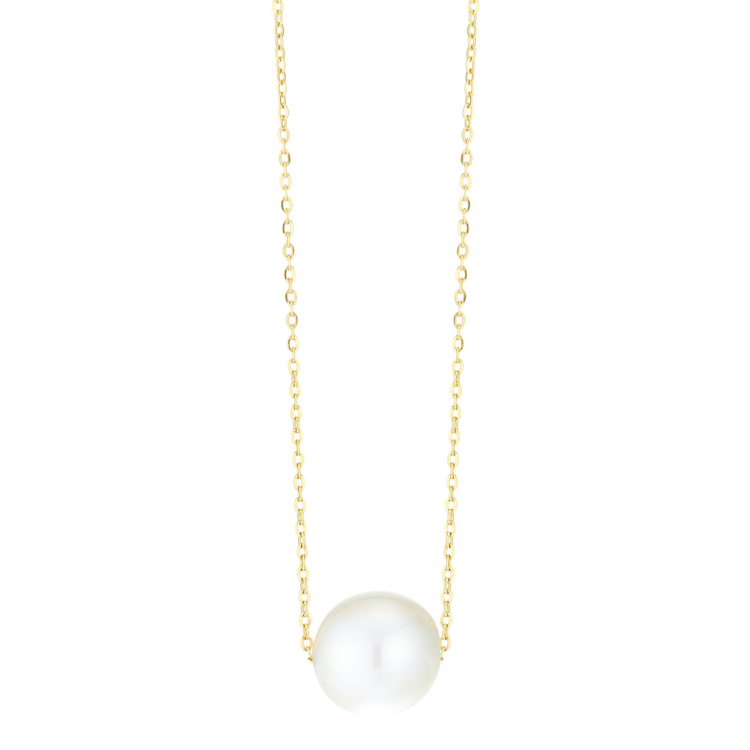 9ct Yellow Gold Single Freshwater Pearl Pendant - Product number 3917924