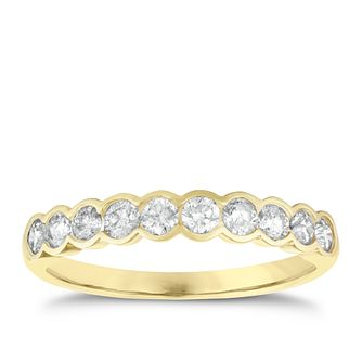 18ct gold 1/2ct diamond ring - Product number 3923282