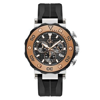 Gc Divercode Men's Chronograph Black Silicone Strap Watch - Product number 3924866