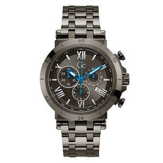 Gc Insider Men's Chronograph Grey IP Bracelet Watch - Product number 3924874