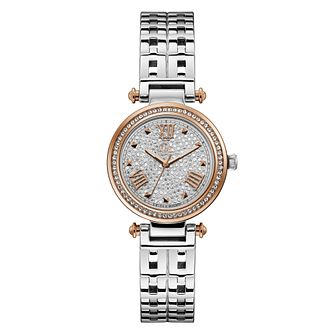 Gc Primechic Ladies' Crystal Set Two Tone Bracelet Watch - Product number 3925498