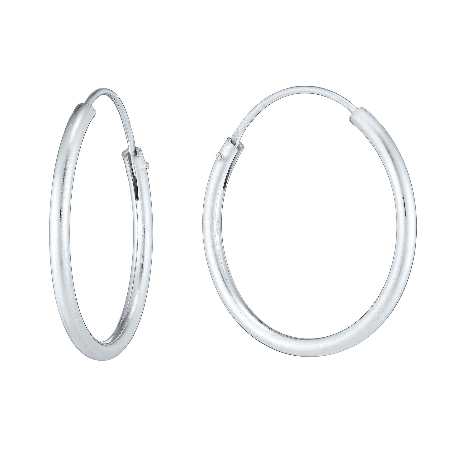 Sterling Silver 18mm Sleeper Earrings - Product number 3926133