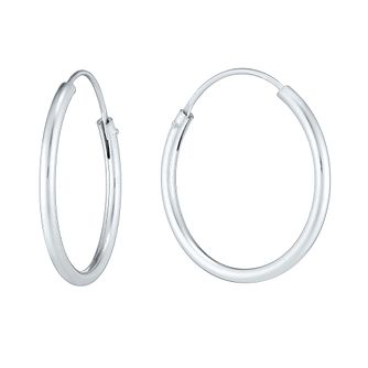 Sterling Silver 18mm Hoop Earrings - Product number 3926133