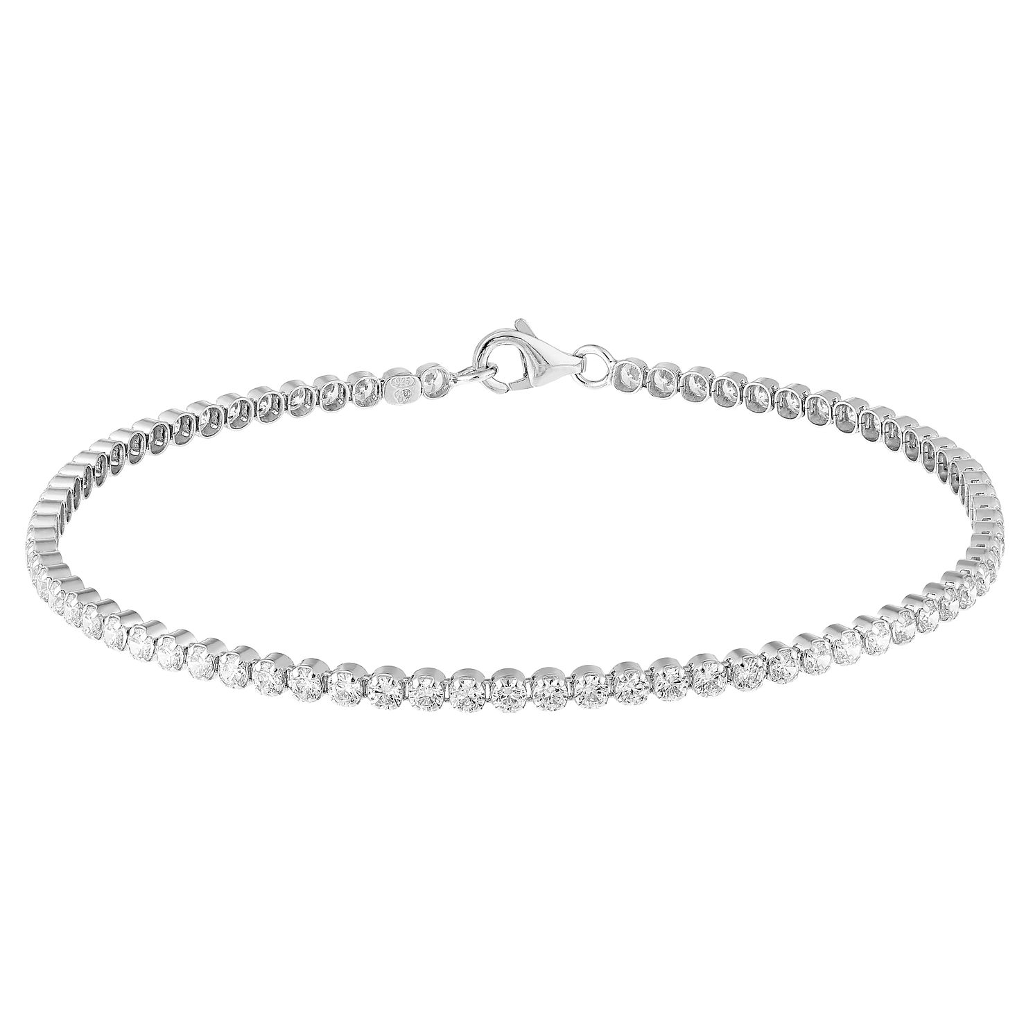Sterling Silver Stone Set Tennis Bracelet - Product number 3926443