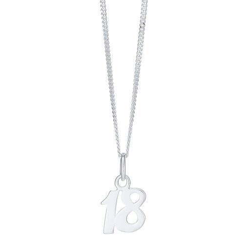 Sterling Silver '18' Pendant - Product number 3926540