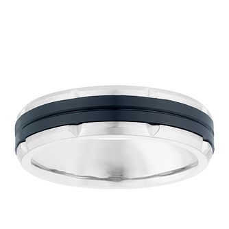 Titanium Black Centre Ridge Design Ring - Product number 3928977