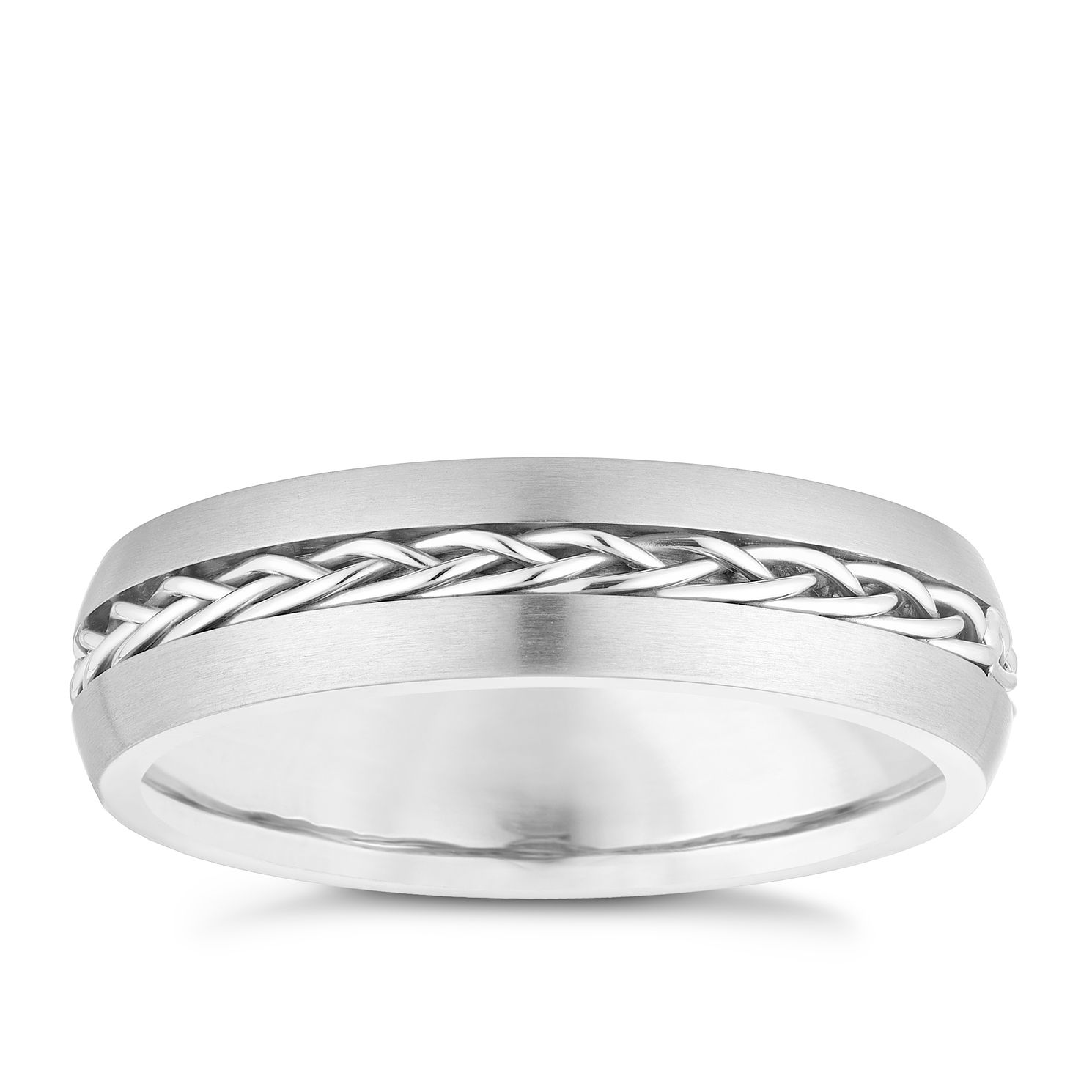 Titanium Plaited Centre Design Ring - Product number 3929981