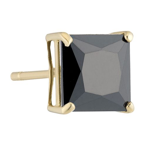 9ct Yellow Gold Black Cubic Zirconia Single Stud Earring - Product number 3931692