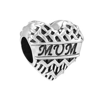 Chamilia Chevron Heart Mum Charm - Product number 3931889