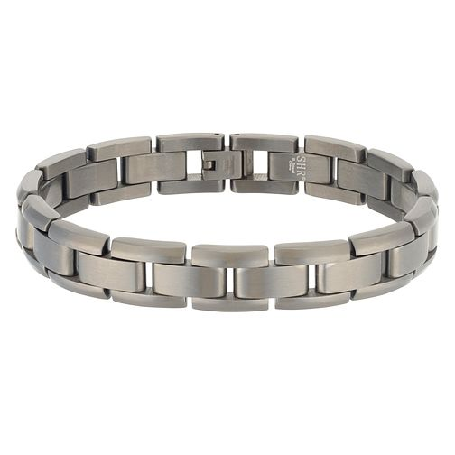 Men's Brushed Stainless Steel Bracelet - Product number 3939324