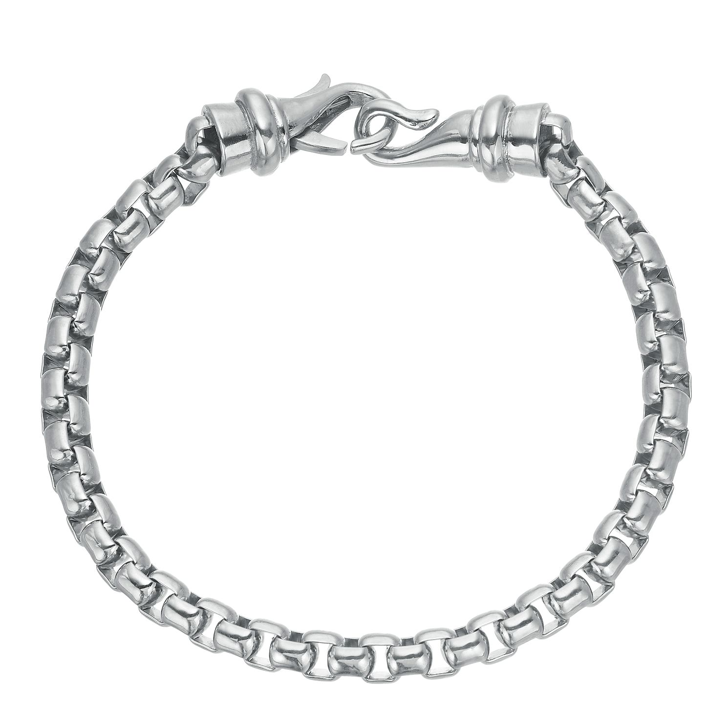 Stainless Steel 8.5 Inch Box Chain Bracelet - Product number 3939332