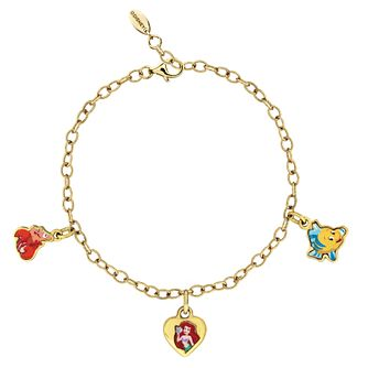 Disney Little Mermaid Children's Gold Plated Charm Bracelet - Product number 3940977