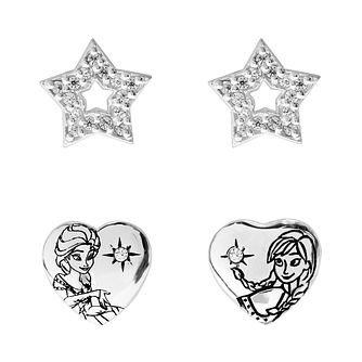 Disney Frozen Children's Heart & Star Stud Earrings Set - Product number 3940985