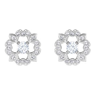 Swarovski Sparkling Dance Ladies' Rhodium Plated Earrings - Product number 3941108