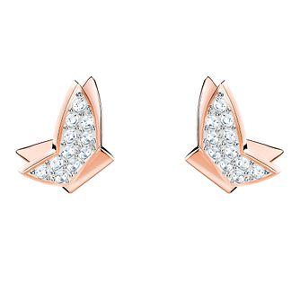Swarovski Lilia Ladies' Rose Gold Plated Butterfly Earrings - Product number 3941264