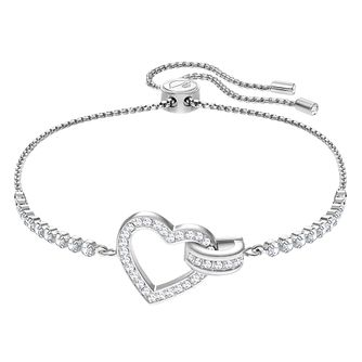 7c8d3f2d0 Swarovski Ladies' Rhodium Plated Lovely Heart Bracelet - Product number  3941302