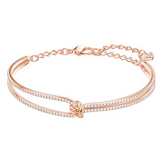 Swarovski Ladies' Rose Gold Plated Lifelong Bangle - Product number 3941477