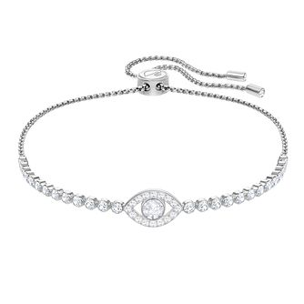 51e8f8db0 Swarovski Subtle Evileye Ladies' Rhodium Plated Bracelet - Product number  3941558