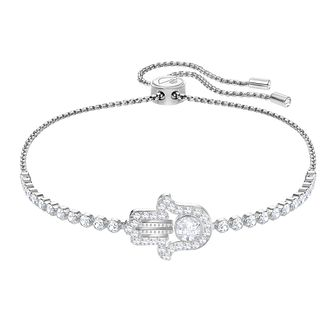 Swarovski Subtle Hamsa Ladies' Rhodium Plated Bracelet - Product number 3941582