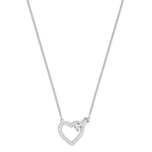 Swarovski Ladies' Rhodium Plated Lovely Heart Necklace - Product number 3941914
