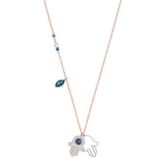 Swarovski Ladies' Two Colour Duo Hamsa Necklace - Product number 3941965