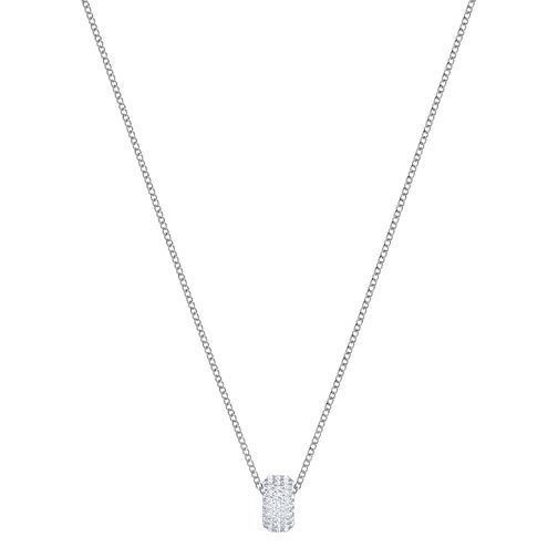 Swarovski Ladies' Rhodium Plated Stone Pendant Necklace - Product number 3942023