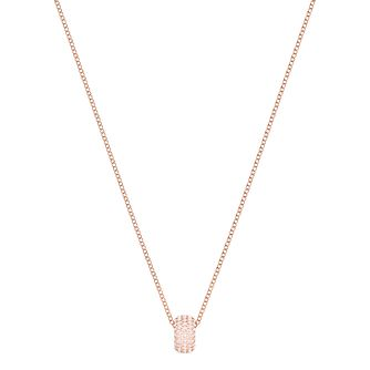 Swarovski Ladies' Rose Gold Plated Stone Pendant Necklace - Product number 3942201
