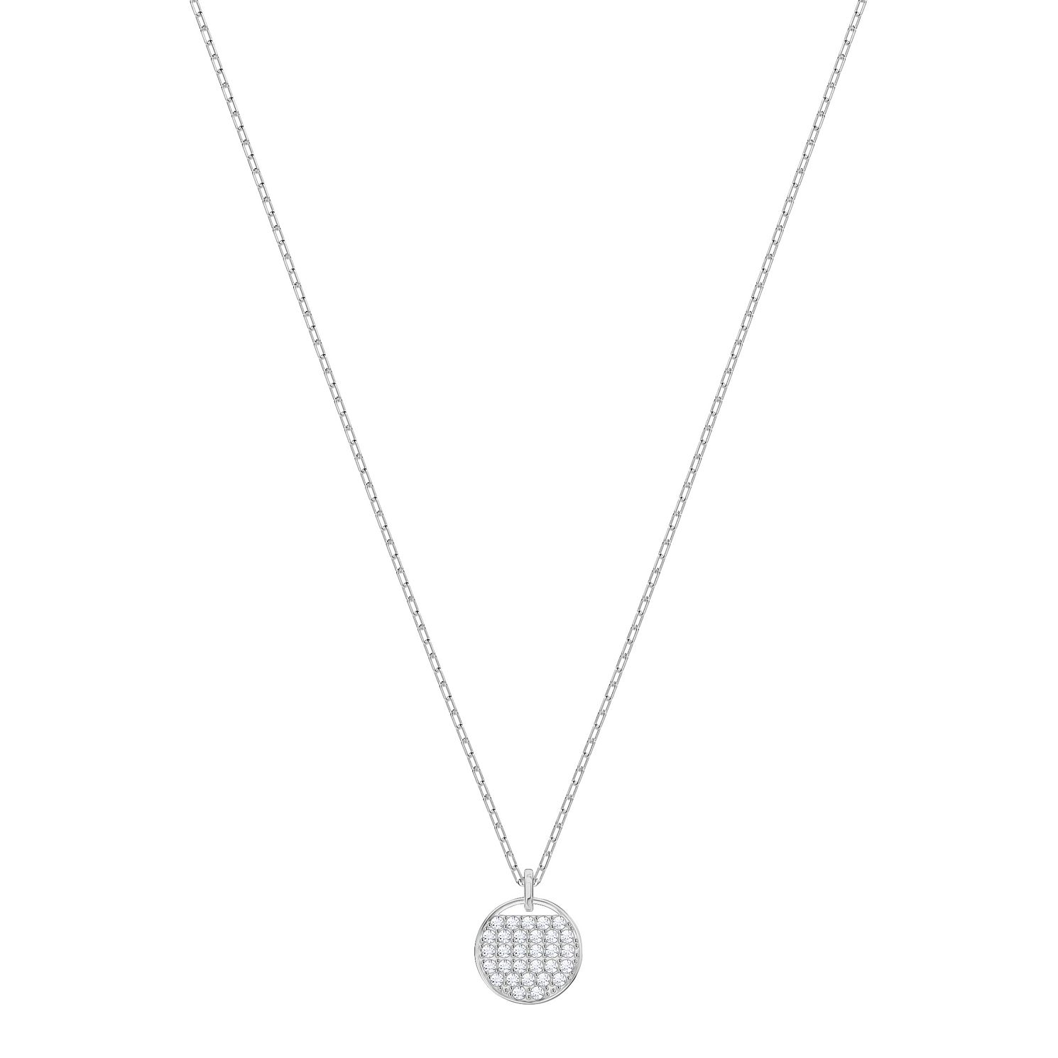 Swarovski Ladies' Rhodium Plated Ginger Pendant Necklace - Product number 3942279