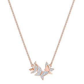 Swarovski Lilia Ladies' Rose Gold Plated Butterfly Necklace - Product number 3942309