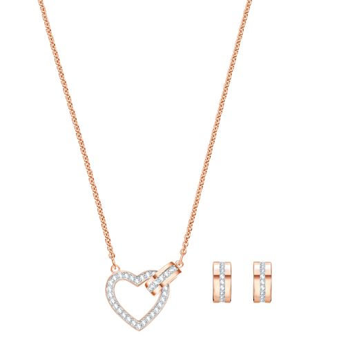 Swarovski Ladies' Rose Gold Plated Lovely Jewellery Set - Product number 3942406