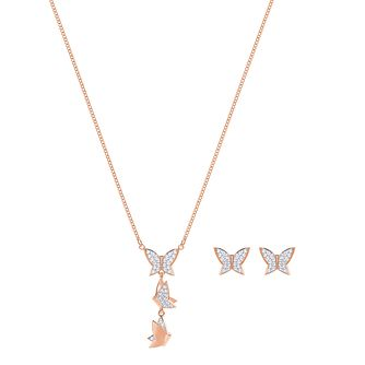 Swarovski Lilia Ladies' Rose Gold Plated Jewellery Gift Set - Product number 3942414