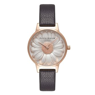 Olivia Burton 3D Daisy Rose Gold Metal Plated Strap Watch - Product number 3944441