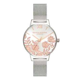 Olivia Burton Lace Detail Stainless Steel Bracelet Watch - Product number 3944514