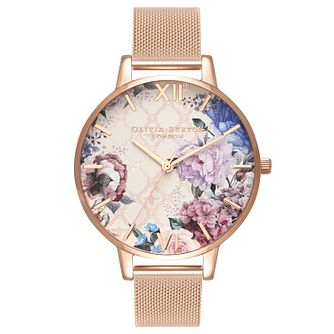 Olivia Burton Glasshouse Rose Gold Metal Plated Watch - Product number 3945146