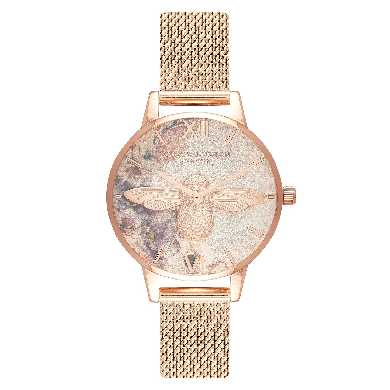 Olivia Burton Watercolour Rose Gold Metal Plated Watch - Product number 3945162