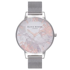 Olivia Burton Abstract Florals White Dial Strap Watch - Product number 3945189